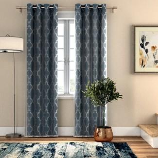 Paneles de cortina con ojal transparente geométrico Lippincott (juego de 4)