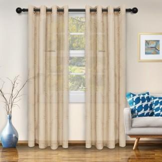Paneles de cortina de visera transparente impresos marroquí de Abarca (juego de 2)