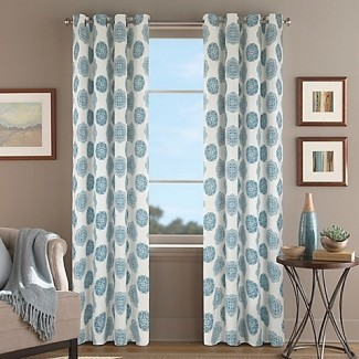 Orion Morocco Grommet Panel de cortina de ventana superior en Aqua ...