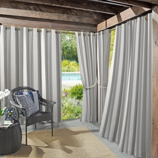 Valencia Protector UV UV Cabana Stripe Grommet Panel de cortina simple