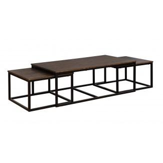 Juego de mesa de café y mesas de anidación Hensley de 3 piezas