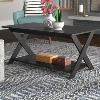 Spurgeon Modern Simplistic Criss-Crossed Coffee Table