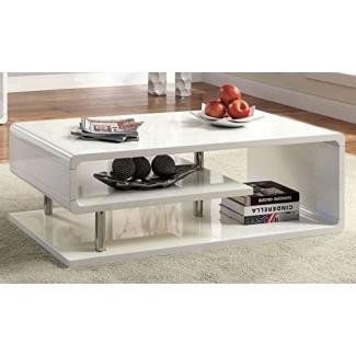 Muebles de América CM4057C Ninove I Mesas de café de alto brillo blanco