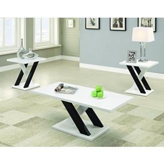 Coaster Furniture Juego de mesa de centro moderno de 3 piezas