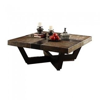 "JWLC importa 66311 Transitions Drift Wood Finish Square Coffee Table, 48 ""por 48"" por 18 """