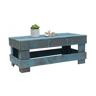 Mesa de centro Barnwood con madera rústica recuperada de Del Hutson Designs