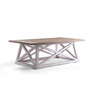 Haven Home 6008-257 Finley Farmhouse Coffee Table Blanco