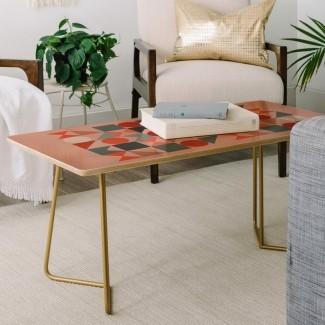 La mesa de centro geométrica de mediados de siglo de Old Art Studio