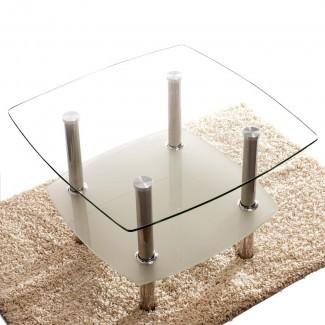 Mesa de centro Hannibal Glass Top 2 Tier