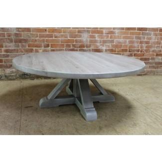 Mesa de centro redonda blanqueada Milla - Ideas de mesa redonda