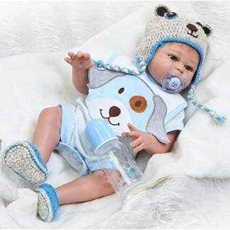 NPK Realistic Re nacido Baby Dolls boy 20 Pulgadas Full Silicone Body Realista Hecho a mano lavable Set de regalo anatómicamente correcto para edades 3+