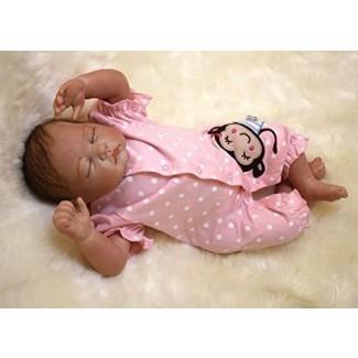 """OCSDOLL MaiDe Reborn Baby Dolls 22 """"Cute Realistic Soft Silicone Vinyl Dolls Newborn Baby Dolls with Clothes"""