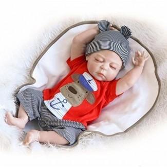 ZIYIUI 18 pulgadas 45 cm Cuerpo de silicona completo Impermeable Reborn Baby Doll Realista Recién nacido Realistic Baby Doll Anatómicamente correcto Doll Boy