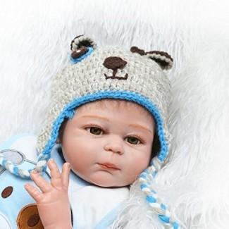 Pinky 50cm 20Inch Vinyl Silicone Full Body Boy Doll Recién nacido Realista Reborn Baby Dolls Toddler Magnetic Mummy Dummy