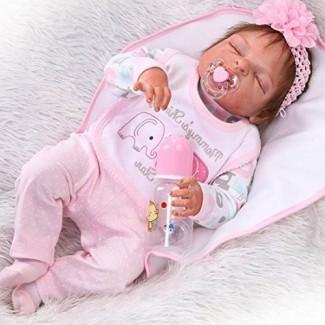 """Muñeca renacida de vinilo de cuerpo completo de 22 """"Bebé anatómicamente correcto Girl Doll"""