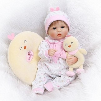 Pinky Hecho a mano 42cm 17 pulgadas Muñecas realistas preciosas y realistas Muñecas de silicona suave Bebés recién nacidos realistas Muñeca recién nacida Real Touch Cute Toddler Child Birthday and Xmas Gift