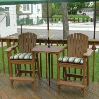 Silla Perfect Choice Plastic Adirondack con mesa