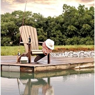 Céspedes recreativos Amish Made Silla Adirondack de plástico reciclado con respaldo abanico Modelo # 360 - Envío gratuito dentro de 2 a 3 semanas