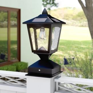 Crofts Cabeza de linterna LED de 1 luz con energía solar