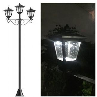 """72 """"Street Vintage Outdoor Outdoor Garden Lámpara solar triple Poste de luz de jardín - Ajustable"""