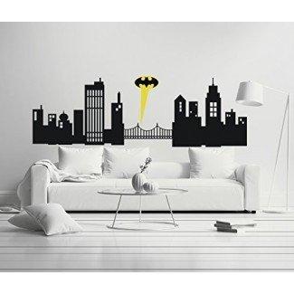Gotham City - Habitación Boy Girl - Vinilo decorativo mural para computadora portátil para el hogar