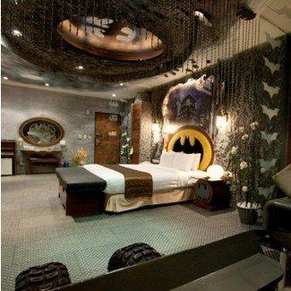 Ideas de estilo interior de dormitorio temático de Batman