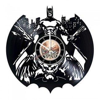 Batman Vinyl Record Wall Clock - Decoración de la pared de la sala de estar o del hogar - Ideas de regalos para hombres y mujeres, niños - Superhero Movie Unique Art Design
