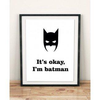 regalo de chico adolescente decoración de habitación de chico adolescente Decoración de hogar de Batman