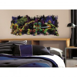 ADOLESCENTES MUTANT NINJA TURTLES Trouble Mural Wall Decals ...