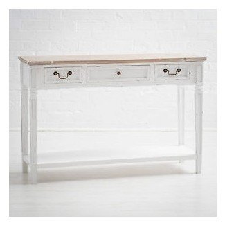 Mesa consola Shabby Chic blanca. Quality Large Kitchen ...
