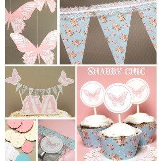 Ideas de comida de Baby Shower: Ideas de Baby Shower Shabby Chic