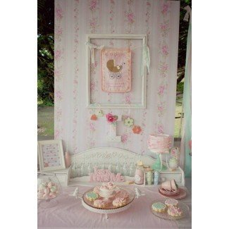 Baby Party Ideas Shabby Chic rosa y menta Baby Shower