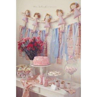 Ideas para la fiesta de Kara Shabby Chic Pink Girl Tea Party Baby