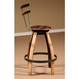 Muebles de madera para barril de vino, taburete giratorio de barril de vino ...