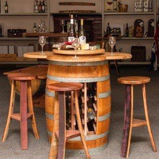 Juego de comedor de 5 piezas Wine Barrel