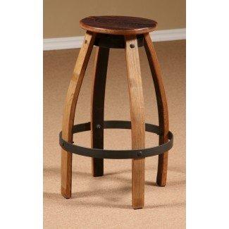 Muebles de madera para barril de vino, taburete de bar para vino, duela ...