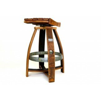 Taburete de bar Wine Barrel con memoria giratoria