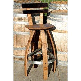 Las mejores ideas sobre taburetes de bar de barril de vino en vino rústico