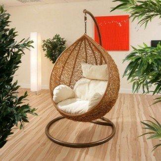 20 adorables y cómodas sillas columpias de dormitorio