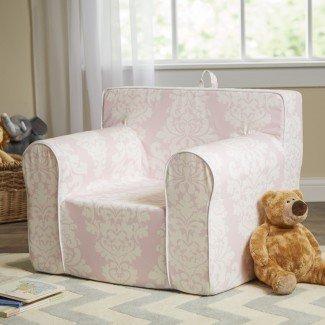 Silla My Comfy personalizada en damasco rosa