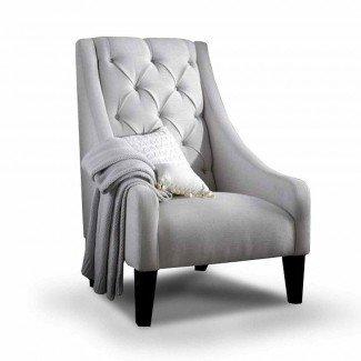 Dormitorio. Cómodas sillas para el diseño de dormitorios: tela Henri ...