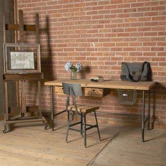 Escritorio recuperado | escritorio de oficina moderno de madera | Industrial ...