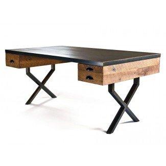 33 impresionantes escritorios de madera recuperados