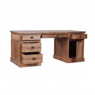 Escritorio de madera recuperada con lembar | eBay
