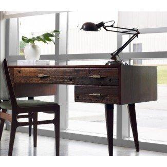Haga que su oficina sea más ecológica con un escritorio de madera reciclada