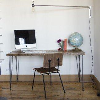 Urban Loft Reclaimed Wood Desk | Carpintería personalizada ...