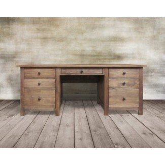 Escritorio de computadora Escritorio de madera reciclada Mesa de escritorio Mesa rústica