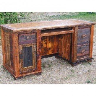 Country Roads Reclaimed Wood Computer Desk de Idaho Tienda de madera