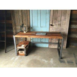 Haga que su oficina sea más ecológica con un escritorio de madera recuperada