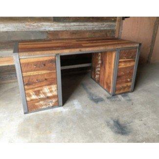 Escritorio y mesa de madera escritorio de madera escritorio de la computadora recuperada